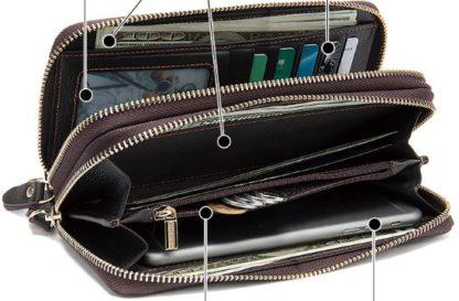 Мужской клатч на два отделения Tiding Bag 8026C