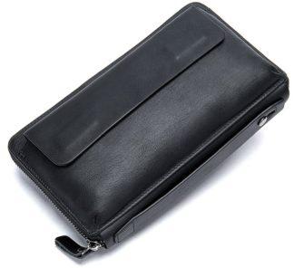 Клатч черный мужской Tiding Bag 8039A