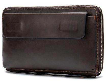 Клатч коричневый мужской Tiding Bag 8039C