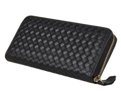 Кожаный мужской портмоне-клатч черный Tiding Bag 8067A