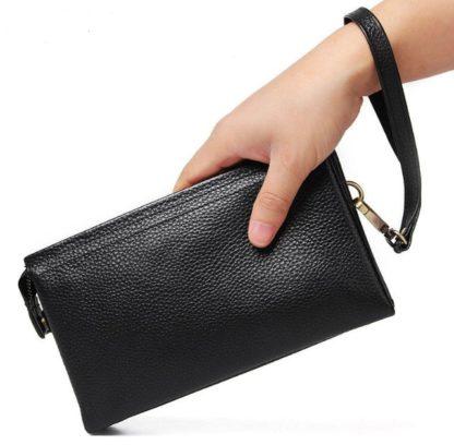 Клатч мужской черный Tiding Bag 8071A