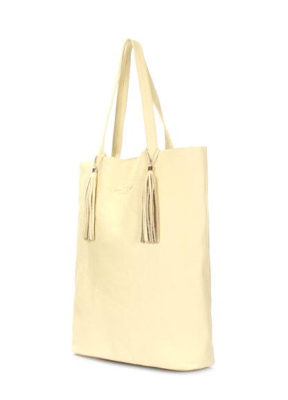 Жёлтая кожаная сумка POOLPARTY Angel, angel-lemonade