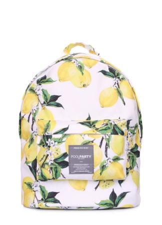 Рюкзак POOLPARTY с лимонами белый