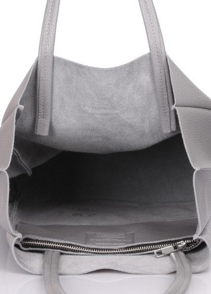 Кожаная сумка POOLPARTY BigSoho, poolparty-bigsoho-grey