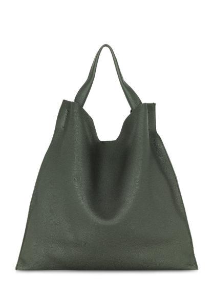 Зеленая кожаная сумка Bohemia, bohemia-khaki