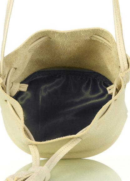 Желтая кожаная сумочка на завязках Bucket, bucket-lemonade