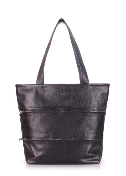 Кожаная сумка POOLPARTY Choice, choice-black