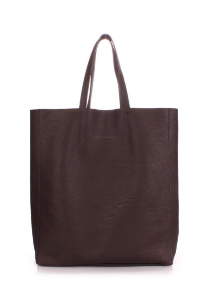 Кожаная сумка POOLPARTY City, city-brown