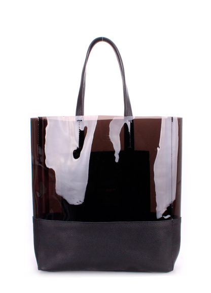 Кожаная сумка POOLPARTY City, city-carrie-black