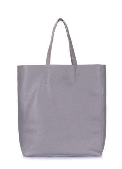 Кожаная сумка POOLPARTY City, city-grey