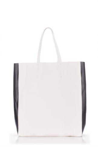 Кожаная сумка POOLPARTY City, city2-white-black