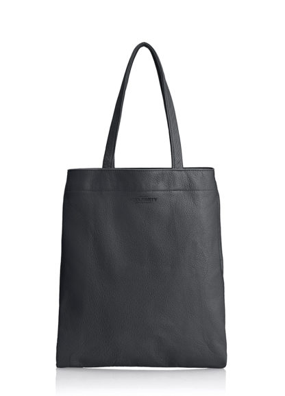 Кожаная сумка POOLPARTY Daily Tote, daily-tote-black