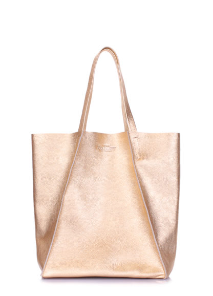 Кожаная сумка POOLPARTY Edge, edge-gold