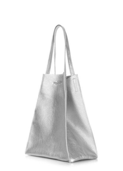 Кожаная сумка POOLPARTY Edge, edge-silver