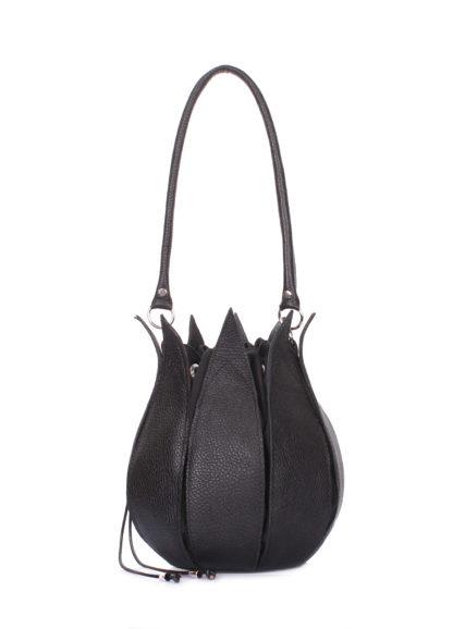 Кожаная сумка Flower, flower-black