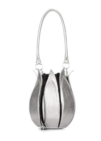 Кожаная сумка Flower, flower-silver