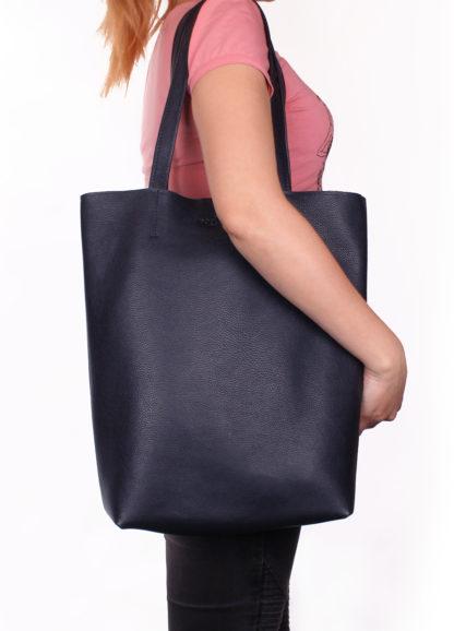 Кожаная сумка-шоппер Iconic, iconic-darkblue