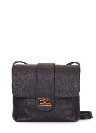Кожаная сумка на плечо POOLPARTY Kiki, kiki-leather-black