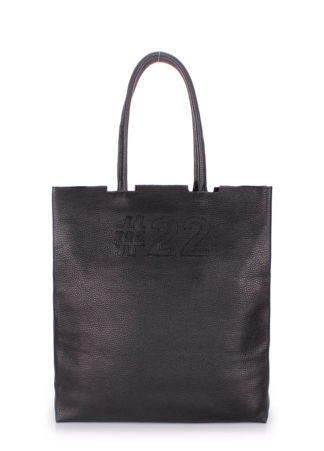 Кожаная сумка POOLPARTY #22, leather-number-22-black