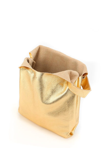 Кожаная сумка POOLPARTY Tote, leather-tote-gold