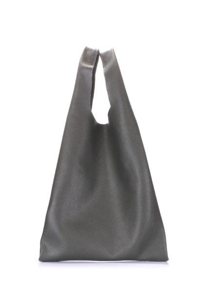 Кожаная сумка POOLPARTY Tote, leather-tote-khaki