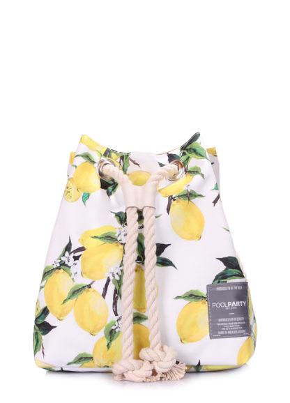Летний рюкзак с лимонами белый
