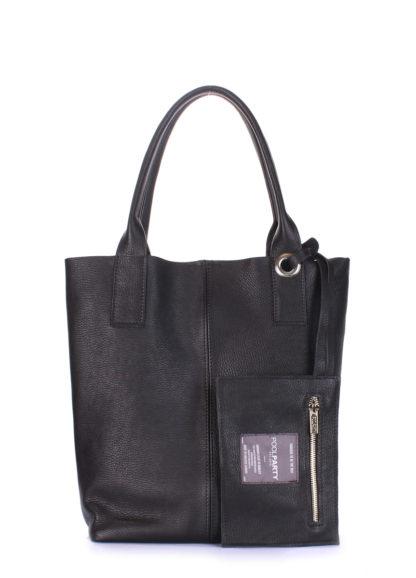 Кожаная сумка POOLPARTY Podium, podium-black