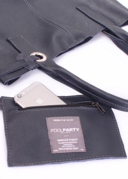 Кожаная сумка POOLPARTY Podium, podium-darkblue