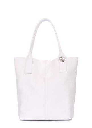 Белая кожаная сумка Podium, podium-white
