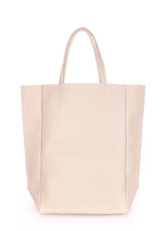 Кожаная сумка POOLPARTY BigSoho, poolparty-bigsoho-beige