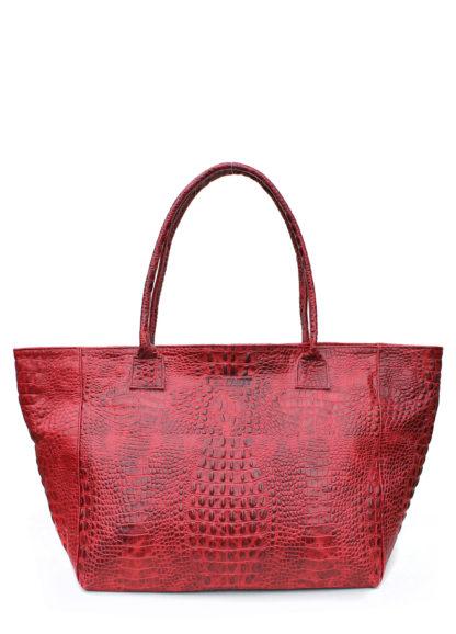 Кожаная сумка POOLPARTY Desire, desire-croco-red