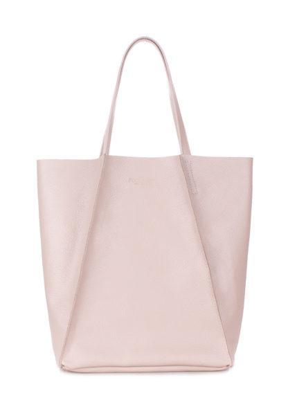 Кожаная сумка POOLPARTY Edge, poolparty-edge-beige