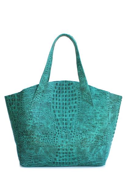 Кожаная сумка POOLPARTY Fiore, fiore-crocodile-green
