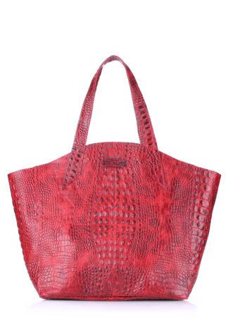 Кожаная сумка POOLPARTY Fiore, fiore-crocodile-red