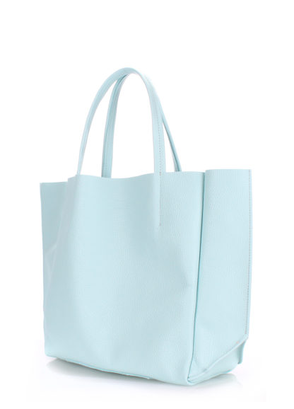 Кожаная сумка POOLPARTY Soho, poolparty-soho-babyblue