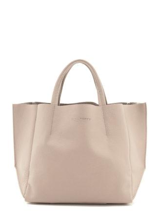 Кожаная сумка POOLPARTY Soho, poolparty-soho-beige