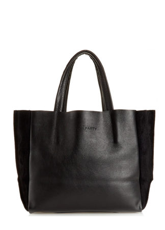 Кожаная сумка POOLPARTY Soho, soho-black-velour