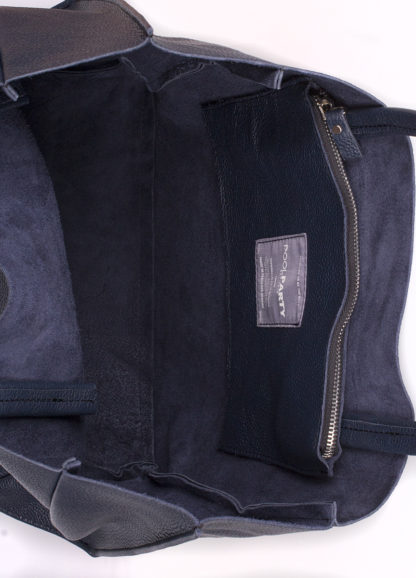 Кожаная сумка POOLPARTY Soho, poolparty-soho-darkblue