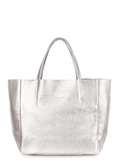 Кожаная сумка POOLPARTY Soho, poolparty-soho-silver