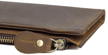 Кожаный мужской портмоне-клатч коричневый TIDING BAG R-8168R