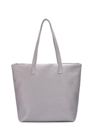Кожаная сумка POOLPARTY Secret, secret-grey