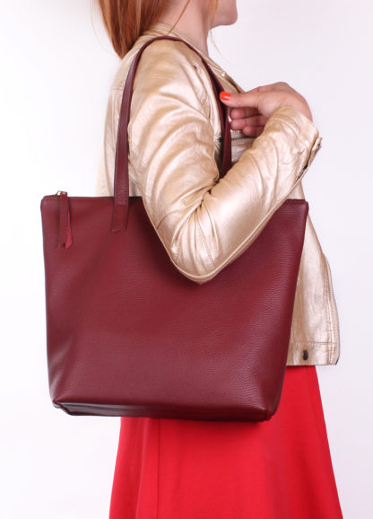 Кожаная сумка Bohemia, secret-marsala