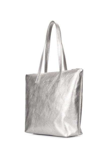 Серебряная кожаная сумка Secret, secret-silver