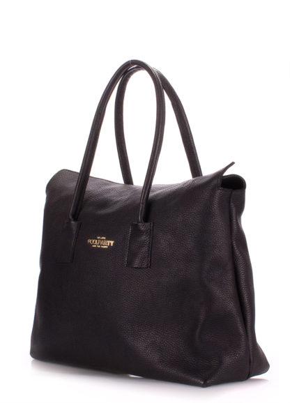 Кожаная сумка POOLPARTY Sense, sense-black