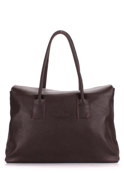 Кожаная сумка POOLPARTY Sense, sense-brown