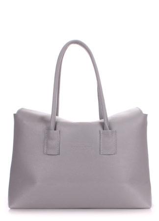 Кожаная сумка POOLPARTY Sense, sense-grey