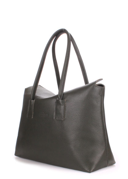 Кожаная сумка POOLPARTY Sense, sense-khaki