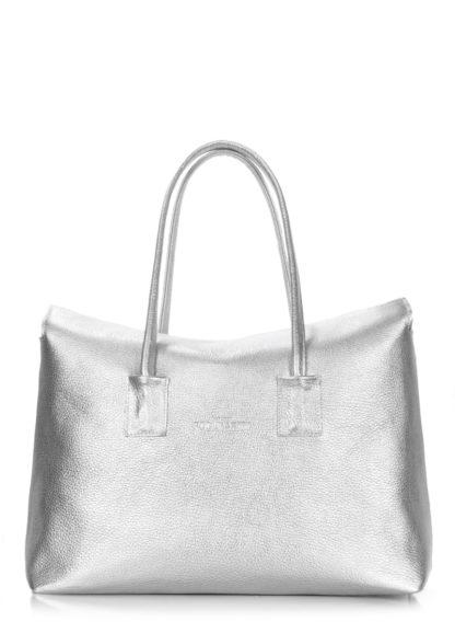 Кожаная сумка POOLPARTY Sense, sense-silver