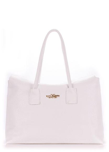 Кожаная сумка POOLPARTY Sense, sense-white