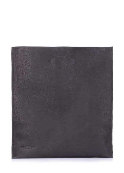 Кожаная сумка POOLPARTY Shopper, shopper-leather-black